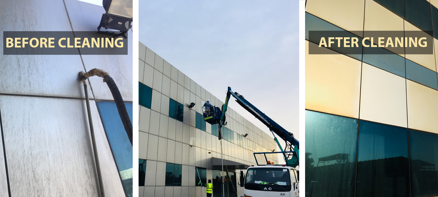 Aluminium Cladding Cleaning | Dubai and Abu Dhabi